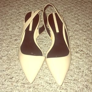 Zara Nude One inch heels